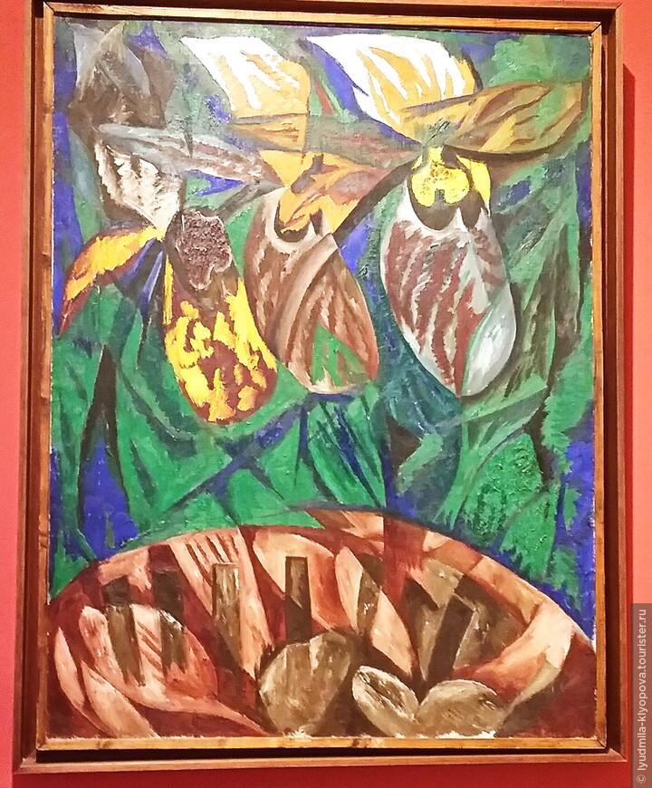 """Есть несколько полотен Гончаровой. Это """"Орхидеи"""". В музее гордятся тем, что у них 5 работ Серебряковой, но нам не удалось их увидеть, их увезли на выставку."""