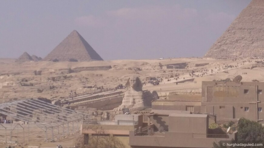 Вид на Пирамиды из отеля!