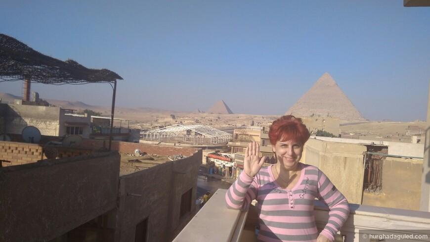 Вид на пирамиды Гиза с балкона отеля!