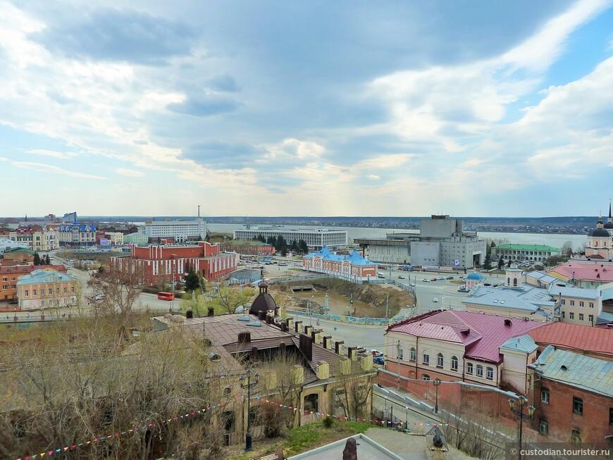 Вид с пожарной каланчи, музей истории Томска