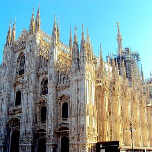 Бело-розовая готика Милана. Миланский Дуомо