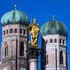 Мюнхен -  вчера, сегодня, завтра . Экскурсии с частным индивидуальным гидом из Праги в Мюнхен. Башни Фрауенкирхе и Дева Мария - святая покровительница Баварии.