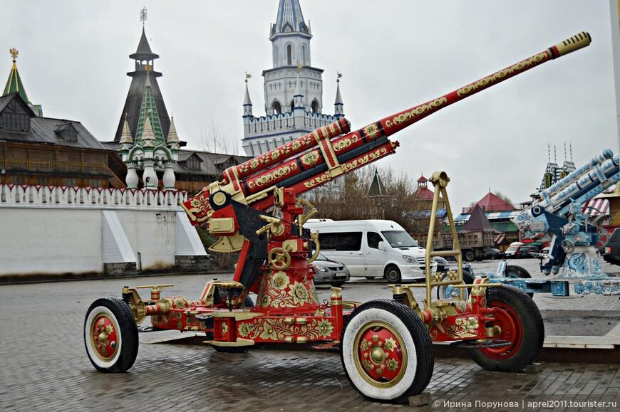 Очень понравились эти мирные пушки а-ля рус...