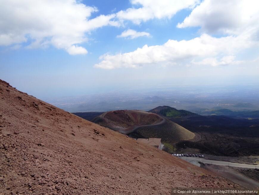 Виды с кратера Сильвестри - а всего на Этне более 400 кратеров!!!