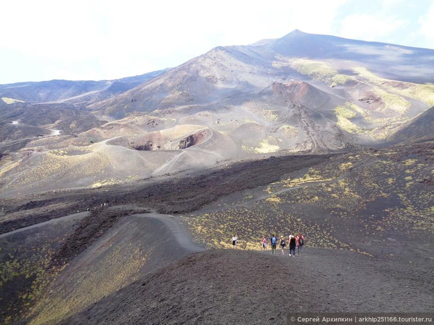Идем по вершине кратера Сильвестри