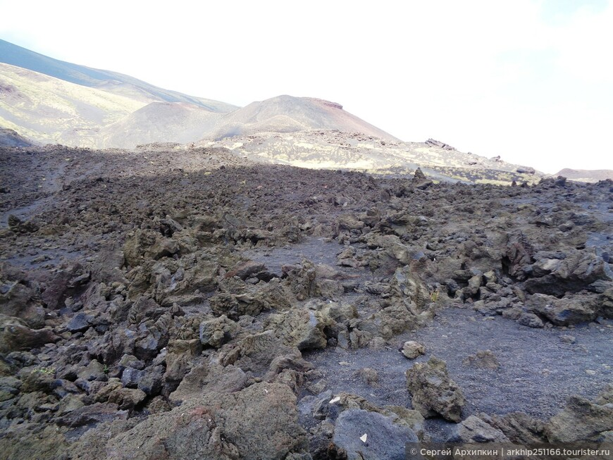 Сильвестри и остатки лавы