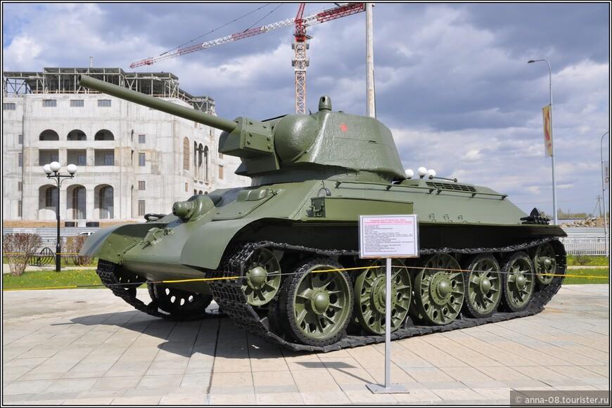 Средний танк ОТ-34-76 образца 1942 г.