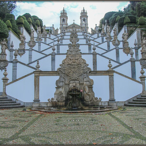 Знаменитая  лестница Via Sacra («Святая дорога»)