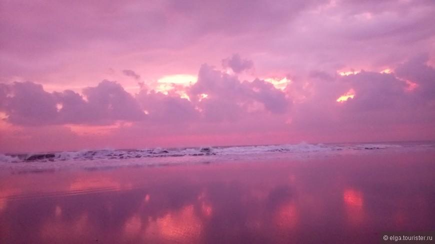Закаты...фиолетовый закат был прекрасен.