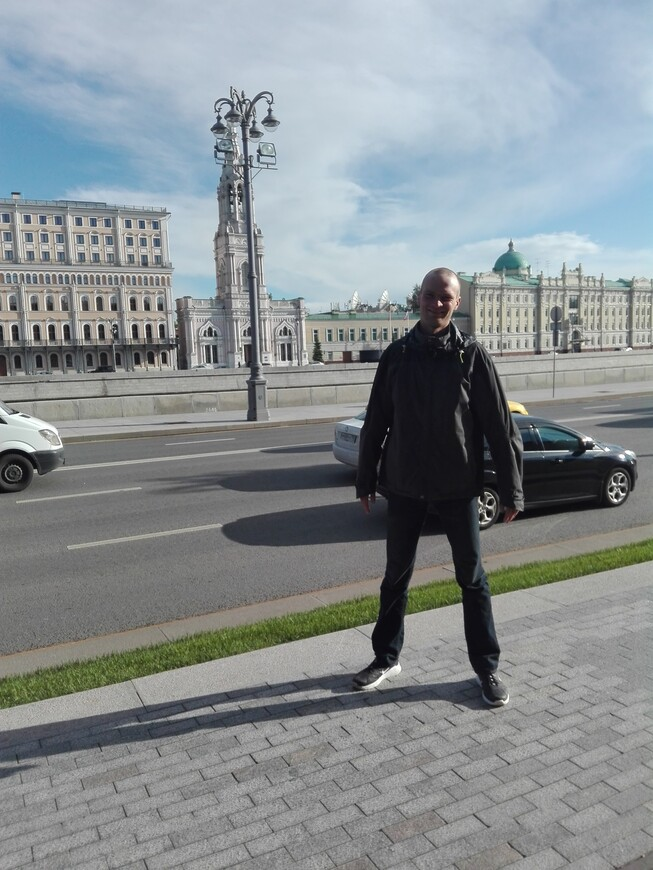 Кремлёвская набережная - вид на Софийскую набережную через Москву-реку