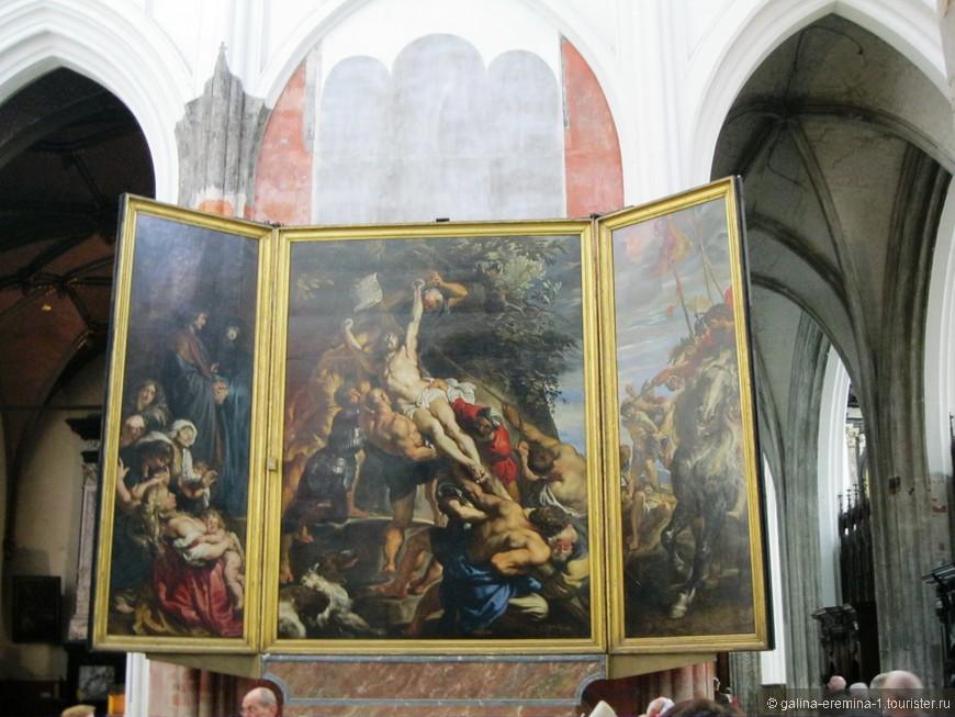 Антверпен, Кафедральный Собор Богоматери. Полотно Рубенса  «Распятие»