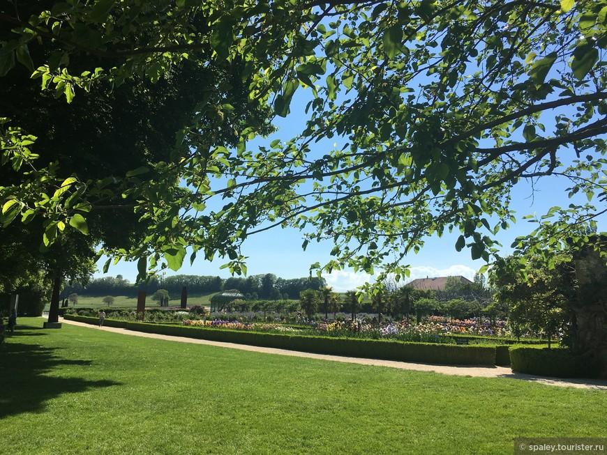 Уникальный сад Ирисов раскинувшийся под открытым небом в старинной частной Усадьбе Vullierens