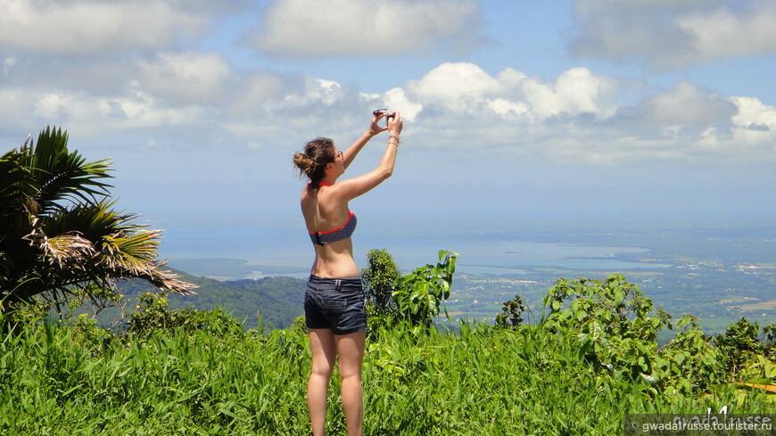 Фото с самой высокой точки Национального парка Гваделупа, доступной на автомобиле.