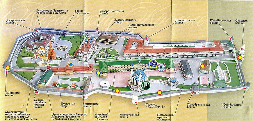 План Казанского кремля. Фото из интернета.