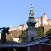 Церков Св. Петра на фоне крепости