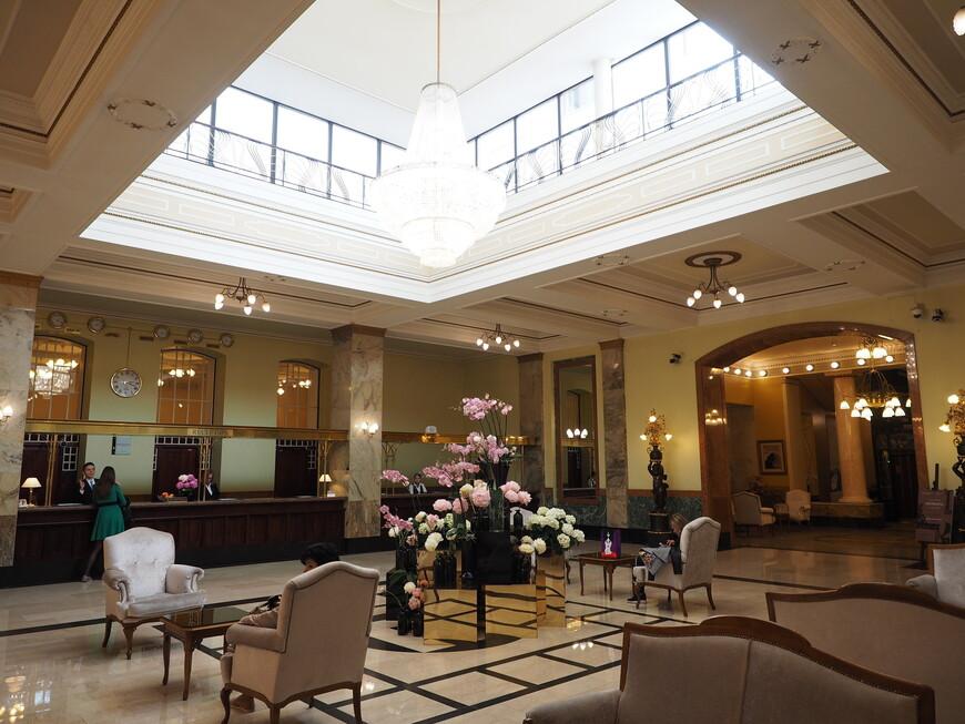 Эту часть отеля достроили при реставрации.