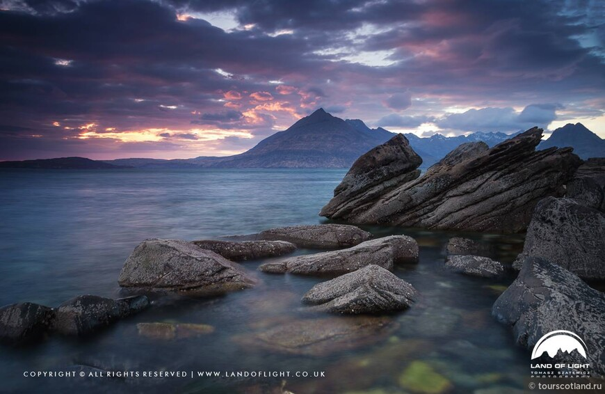 Loch Scavaig at sunset, Elgol, Isle of Skye.jpg