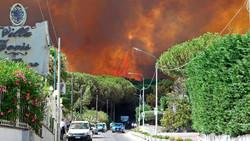 В окрестностях Неаполя эвакуировали жителей и туристов из-за пожаров