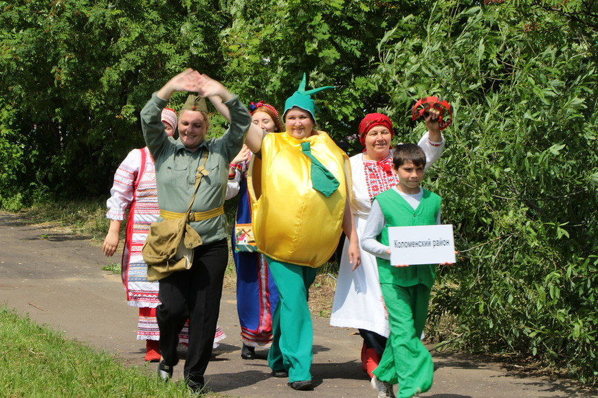 Из Коломны прибыл мячковский лук - его праздник будет в августе.