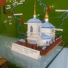 Макет первой каменной церкви в Колывани