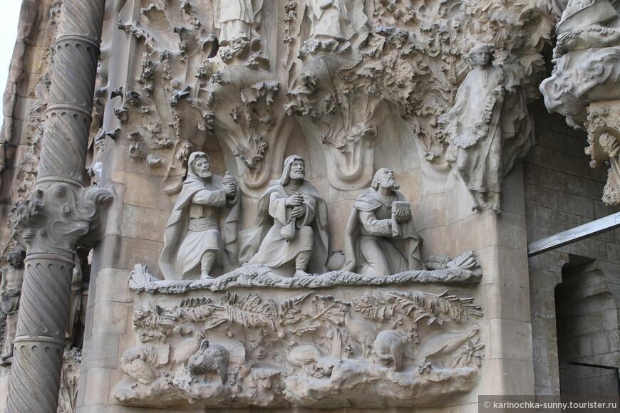"""Одни из многочисленных и невероятных лепнин на храме святого семейства """"Sagrada Familia"""""""
