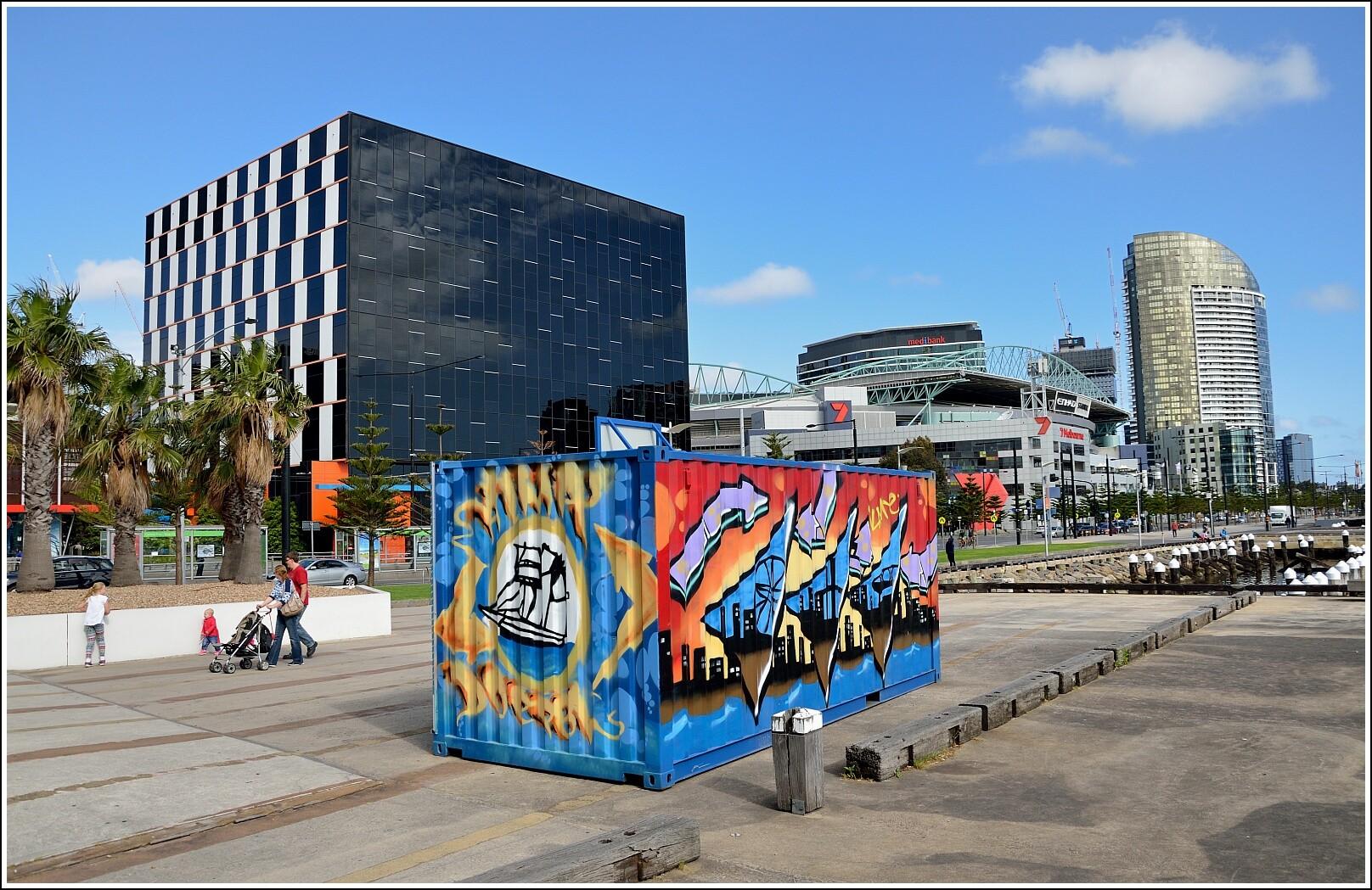 Морской фасад Мельбурна и австралийский футбол