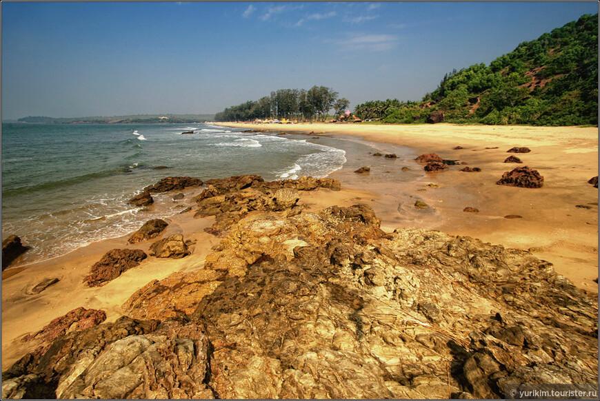 Кирим - соседний пляж к северу от Арамболя, в сторону штата Махараштра