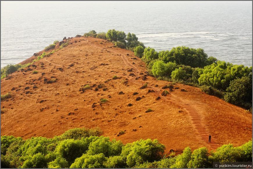Вид с форта Чапора. По всему побережью Гоа - целая вереница старых португальских фортов. Уже полуразрушенные, но виды с них открываются на всю округу.