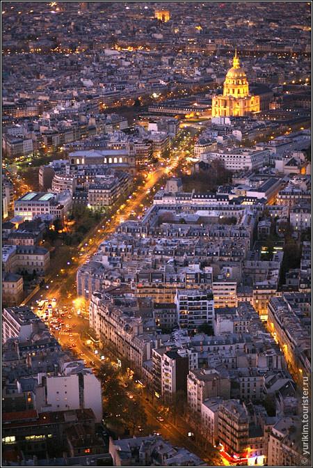 С башни Монпарнас Париж - как на ладони