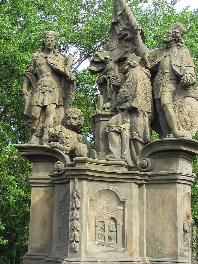 Скульптуры святых Яна Непомуцкого, Вита, Вацлава.
