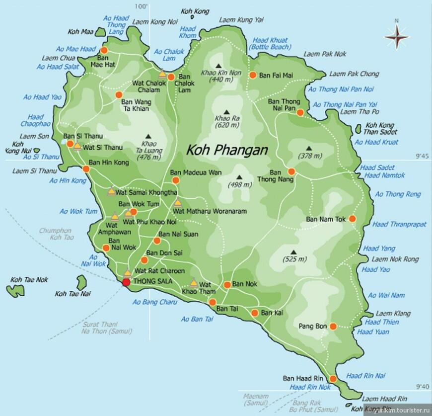 кормили карта достопримечательностей острова панган черви селедке