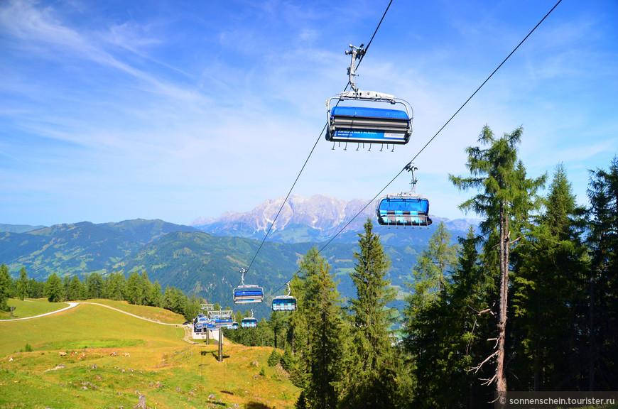 С помощью 44 современных подъемников можно поучаствовать в лыжном аттракционе Альпийской деревни, соединяющей Альпендорф с Ваграйном и Флахау.