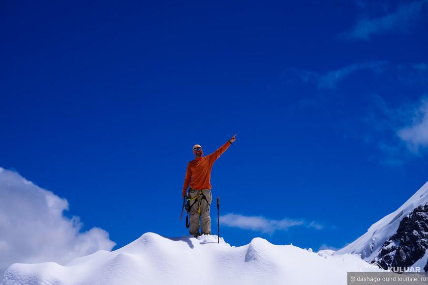 снежно-ледовые занятия Александр - командир