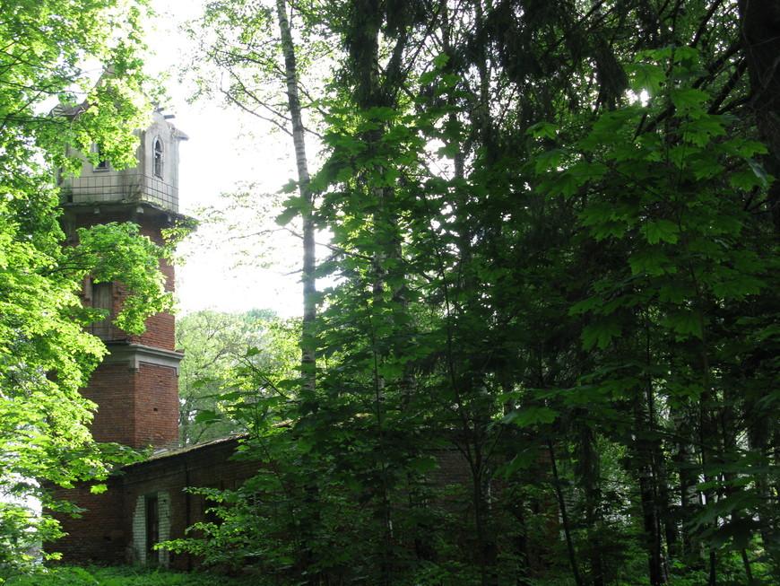 Обойдя парк, мы вновь оказались у водонапорной башни.