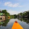 Старые каналы Бангкока с лодки