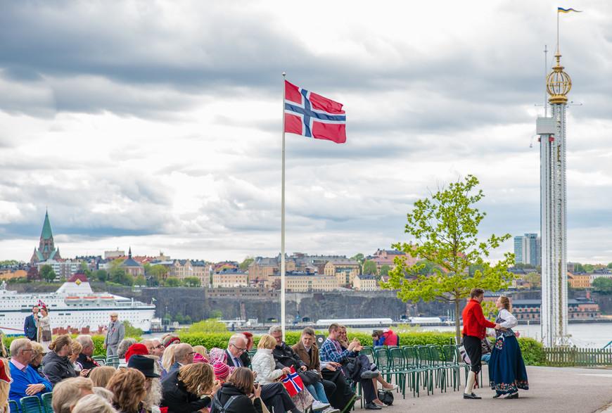 День Норвегии. Танцы с видом на город.