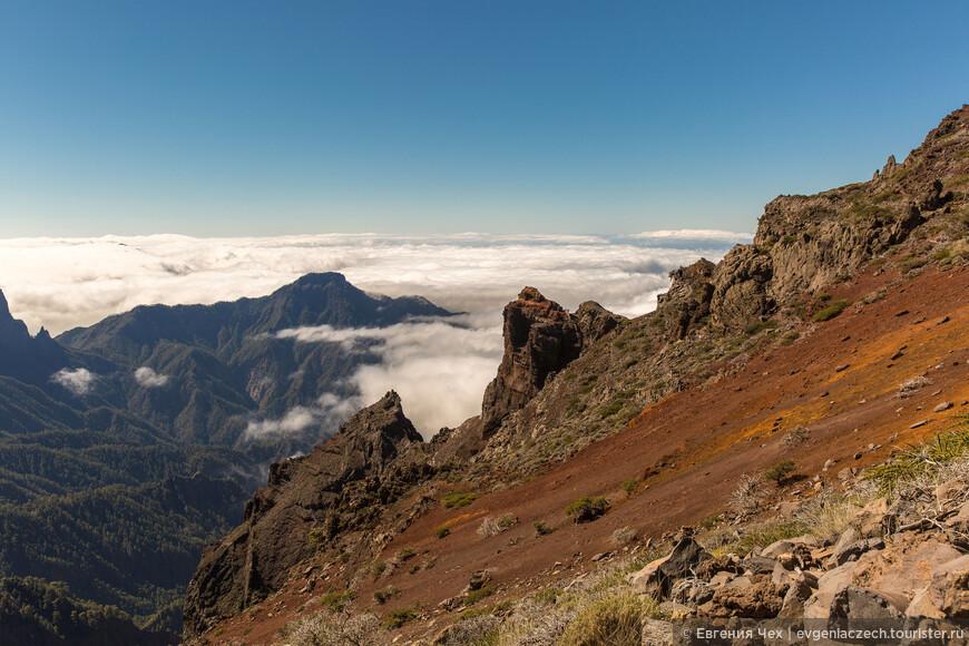 Отсюда открываются чумовые виды на огромный кратер Кальдеры де Табуриенте.