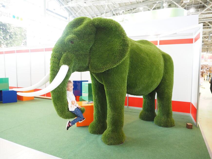 А это зеленый слоник