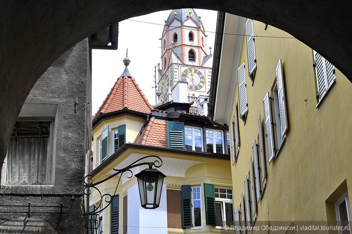 Мерано, вход в старый город через южные ворота 14 века.