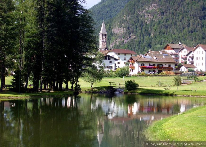 Вот такие альпийские поселки встречаются часто и во всех направлениях в провинции Трентино.