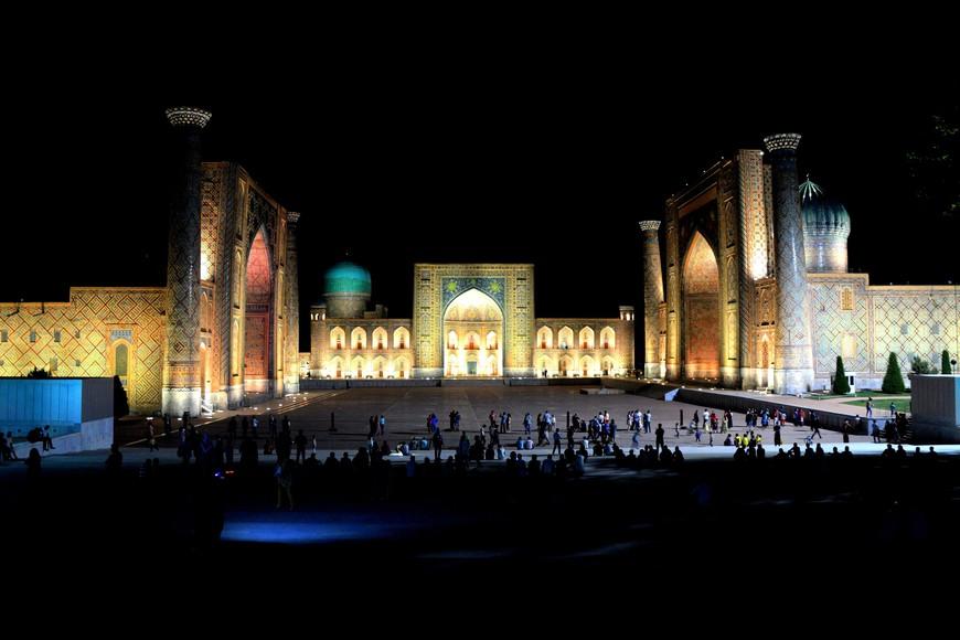 Самарканд, регистан. Когда на город опускается вечер, 23:50