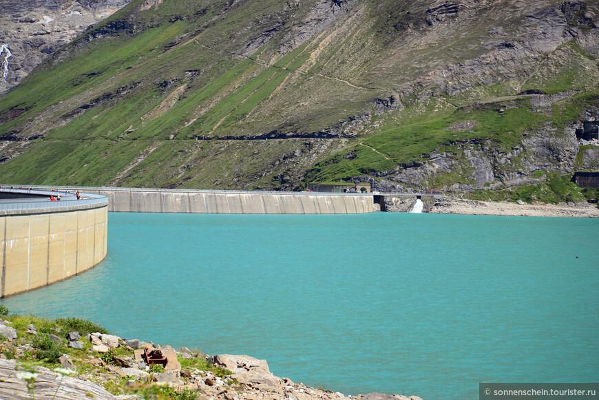 Вид на верхнее водохранилище Мозербоден.