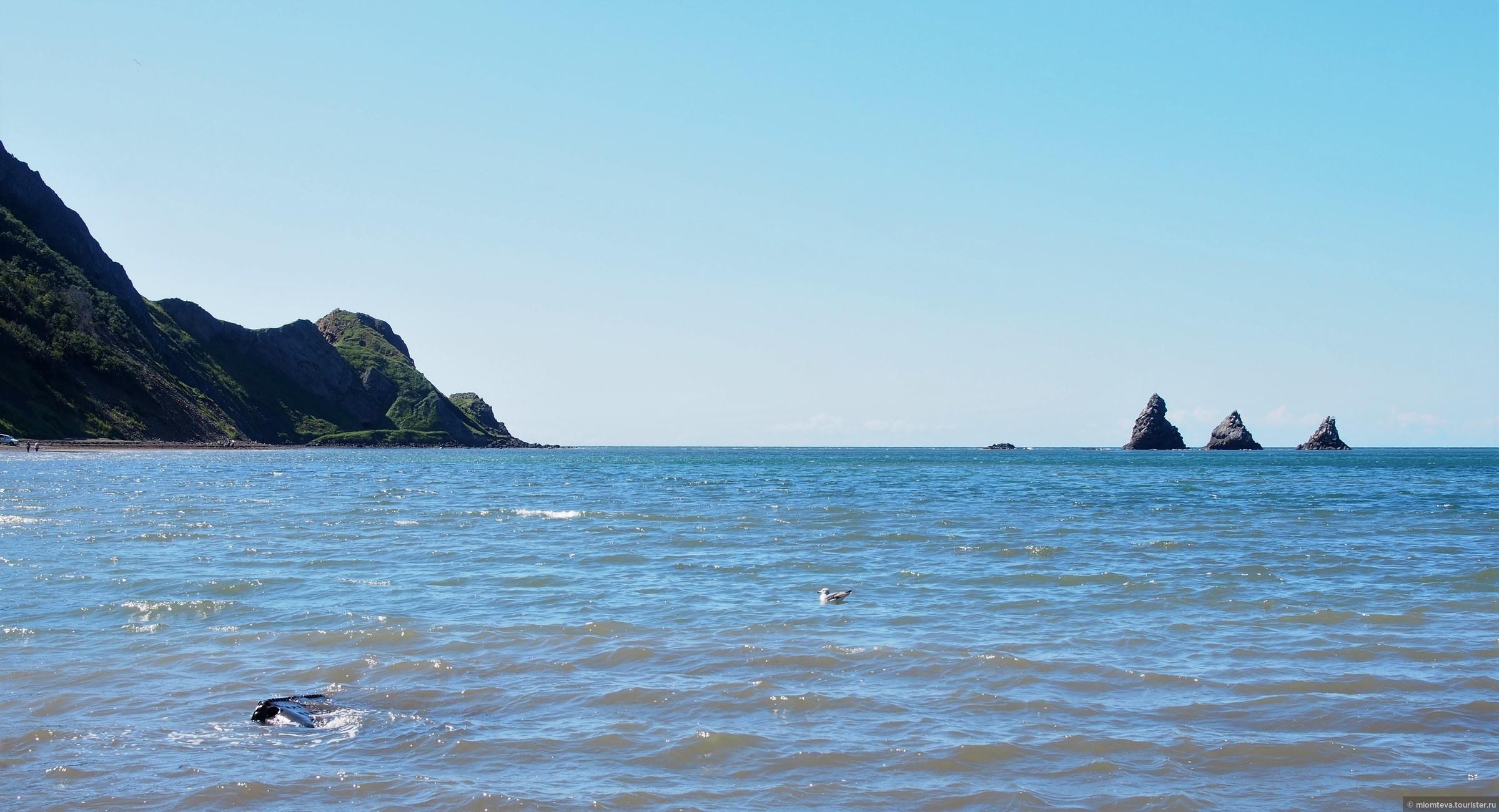 Появление перед глазами Трех Братьев - каждый раз - как чудо... Причем (интересный эффект!), если смотришь из города (километра за два от пляжа), кажется почему-то что, что Братья стоят прямо на берегу!... Непонятный эффект;-), Александровск-Сахалинский
