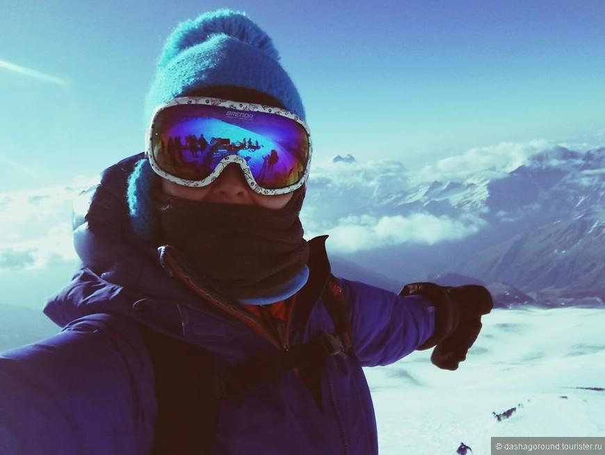 так я увидела гору Ушба впервые с Эльбруса чуть больше года назад