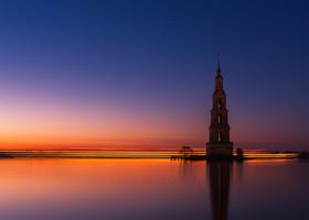 затопленная колокольня Никольского собора