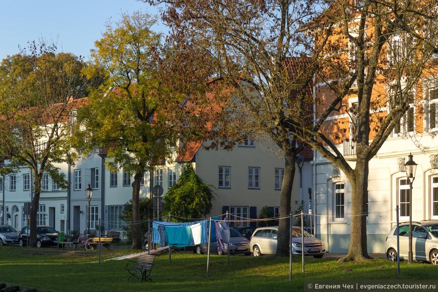 Домики квартала ремесленников.