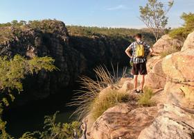все треки проходят по верху, в доль реки не возможно пройти, да и опасно, под любым кустом может оказаться крокодил