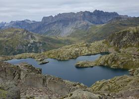 Поход к горному озеру Cornu 2276 м. Франция.