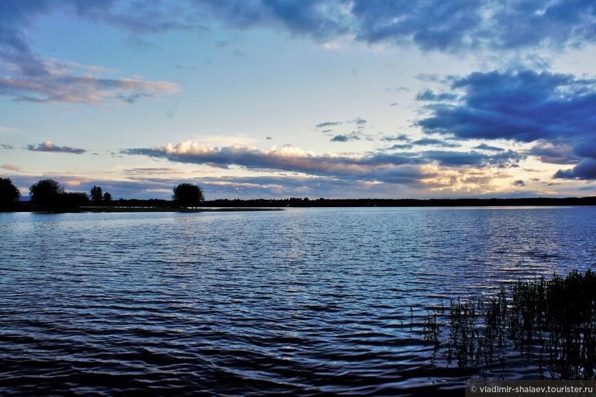 Сиверское озеро. Вечер.