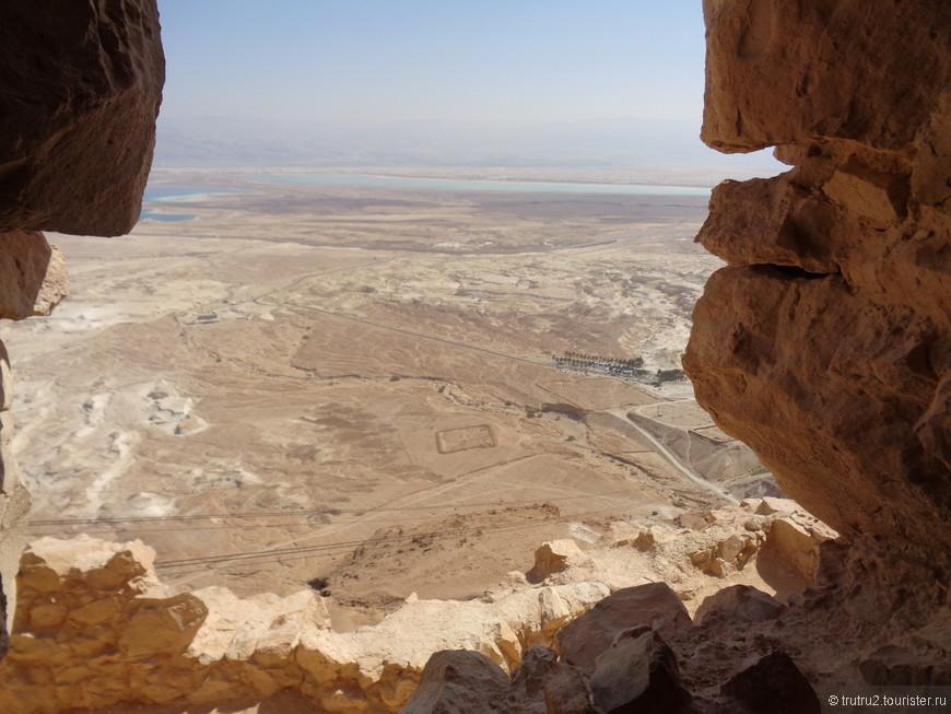 Остатки римских военных лагерей, которые осаждали крепость Масаду.